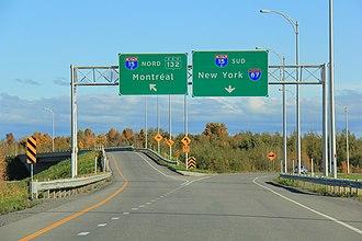 Quebec Autoroute 30 - Image: Quebec Autoroute 30 Autoroute 15 Oct 2012 (2)