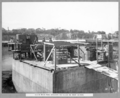 Queensland State Archives 3472 South main pier airlocks installed on west caisson Brisbane 30 April 1937.png