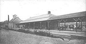 Quincy Center (MBTA station) - Quincy station in 1911