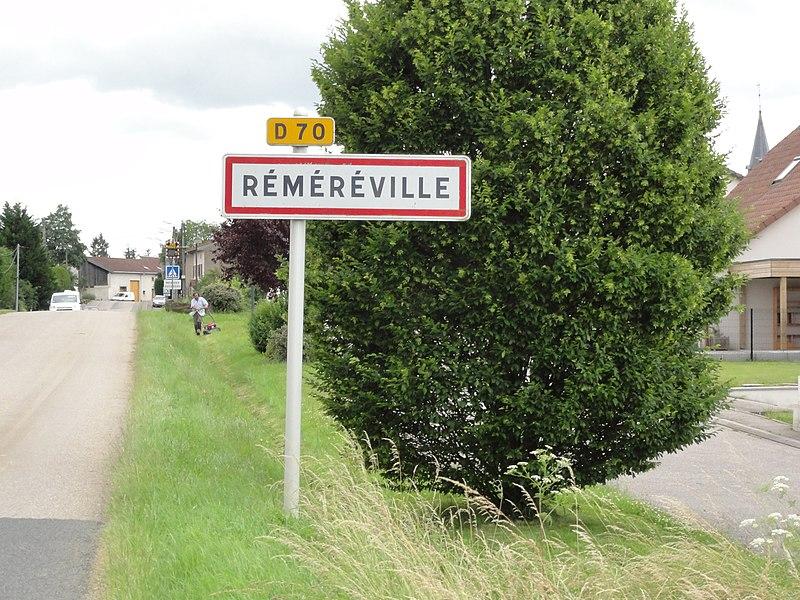 Réméréville (M-et-M) city limit sign