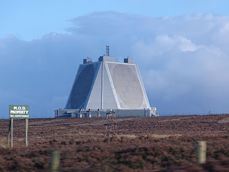 RAF Fylingdales - AN/FPS-126 Pave Paws Solid State Phased Array Radar System at RAF Fylingdales.