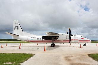 Real Tonga - REALtonga's Xian MA60, Fuaʻamotu International Airport's apron, Tongatapu, Tonga