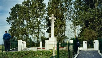 177th Tunnelling Company - RE Grave, Railway Wood, a memorial to men of the 177th Tunnelling Company