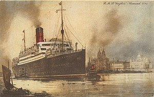 Postcard of RMS Scythia.