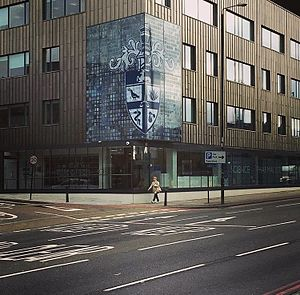 Royal Pharmaceutical Society - Headquarters of the Royal Pharmaceutical Society at East Smithfield, London E1