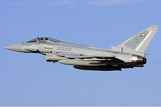Eurofighter Typhoon - A Eurofighter Typhoon of the Royal Saudi Air Force over Malta in 2010