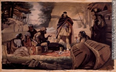 Radisson & Groseillers Established the Fur Trade in the Great North West, 1662, by Archibald Bruce Stapleton (1917-1950)