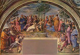 El Parnaso , 1511, Estancia de la Signatura.
