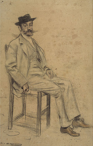 Francesc Masriera - Francesc Masriera; portrait by Ramon Casas  (date unknown)