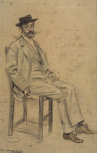 Francesc Masriera - Francesc Masriera; portrait by Ramon Casas  (date unknown)