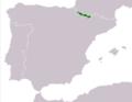 Rana pyrenaica range Map.png