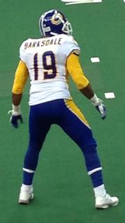 Rashad Barksdale Player of American Football
