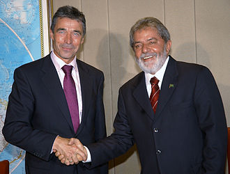 Anders Fogh Rasmussen - Rasmussen in Brazil with Lula da Silva, 25 April 2007