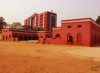 Orissa High Court - View of High Court of Odisha new building from Ravenshaw Collegiate School