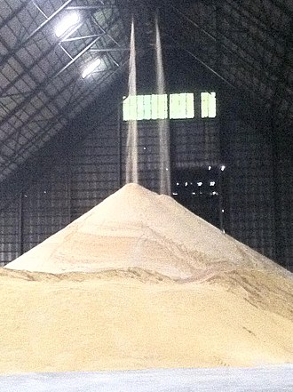 Agriculture in the Philippines - Raw sugar produced in a mill in the nation.