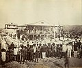 Reading the proclamation of annexation, Mr Lawe's house, Port Moresby, New Guinea, November 1884 - photographer John Paine or Augustine E. Dyer (5708761723).jpg