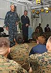 Rear Adm. Dave M. Thomas Jr., Task Force 41 Commander, Speaks to Marines Aboard USS Bataan DVIDS263467.jpg