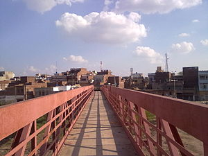 Sangla Hill - Image: Red bridge 1