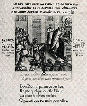 Huguenot rebellions - Re-establishment of the Catholics in Béarn, Melchior Tavernier, 1620.