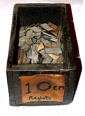Reglet (typesetting) - A box of reglets