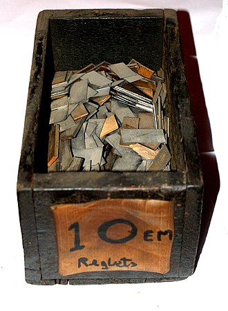 Reglet (typesetting) - A box of reglets