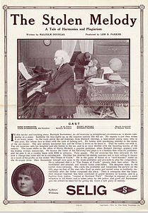 Release flier for THE STOLEN MELODY, 1913.jpg