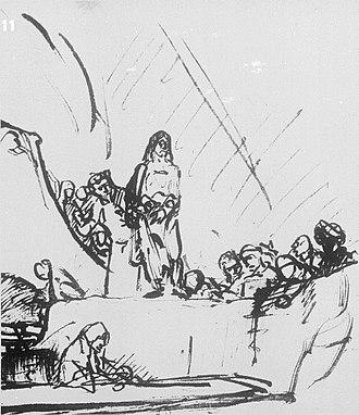 The Raising of Lazarus (Rembrandt) - Image: Rembrandt 223