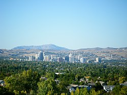 Skyline of Reno