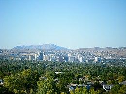 Skyline of Reno