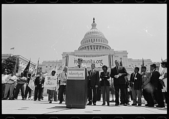 Patrick J. Kennedy - Kennedy speaking at a rally for American Indian and tribal unity in front of the U.S. Capitol