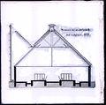 Reproductie van een bouwkundige tekening- doorsnede van een Hollandsche stal te Hijlaard, 1913 - Hilaard - 20496057 - RCE.jpg