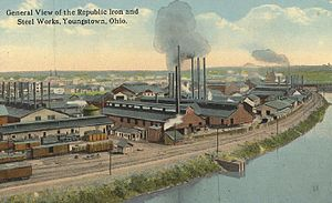Economy of Youngstown, Ohio - Republic Iron and Steel Works, Youngstown, early 1900s