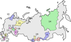 National delimitation in the Soviet Union - Image: Republics of Russia