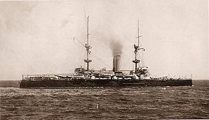 HMS Repulse (1892) - Image: Repulse Postcard Cropped