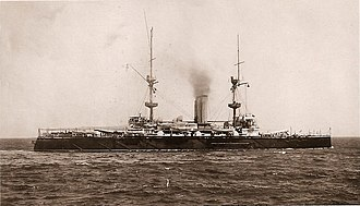 HMS Repulse (1892) - Image: Repulse Postcard Cropped