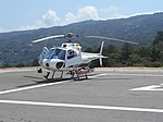 Rescue helicopter on the Heliport in Monchique, Portugal, 3 August 2015 (2).JPG