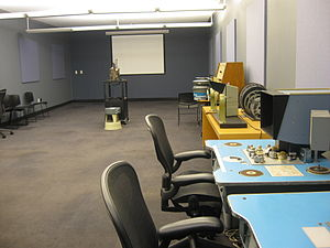 New York Public Library for the Performing Arts - Screening room for the Reserve Film and Video collection; moviola and Steenbeck equipment is on the right
