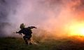 Reservist Soldier Runs Through a Marsh During a Territorial Army Demonstration MOD 45147109.jpg