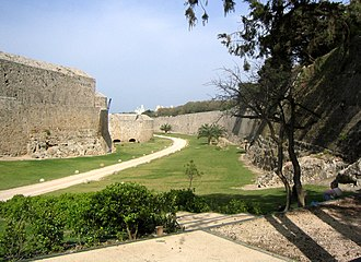 Siege of Rhodes (1522) - Image: Rhodes fortification hg