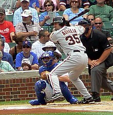 Rich Aurilia is about to ground out to Aramis Ramirez at third.jpg