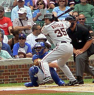 Rich Aurilia - Aurilia with the Giants in July 2007