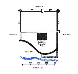 Richborough Castle - A plan of Richborough Castle