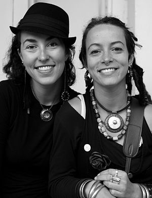 Rising Appalachia - Sisters Chloe and Leah Smith, 2010 in New Orleans