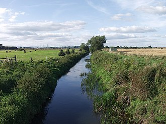 River Perry, Shropshire - The river crossing Baggy Moor