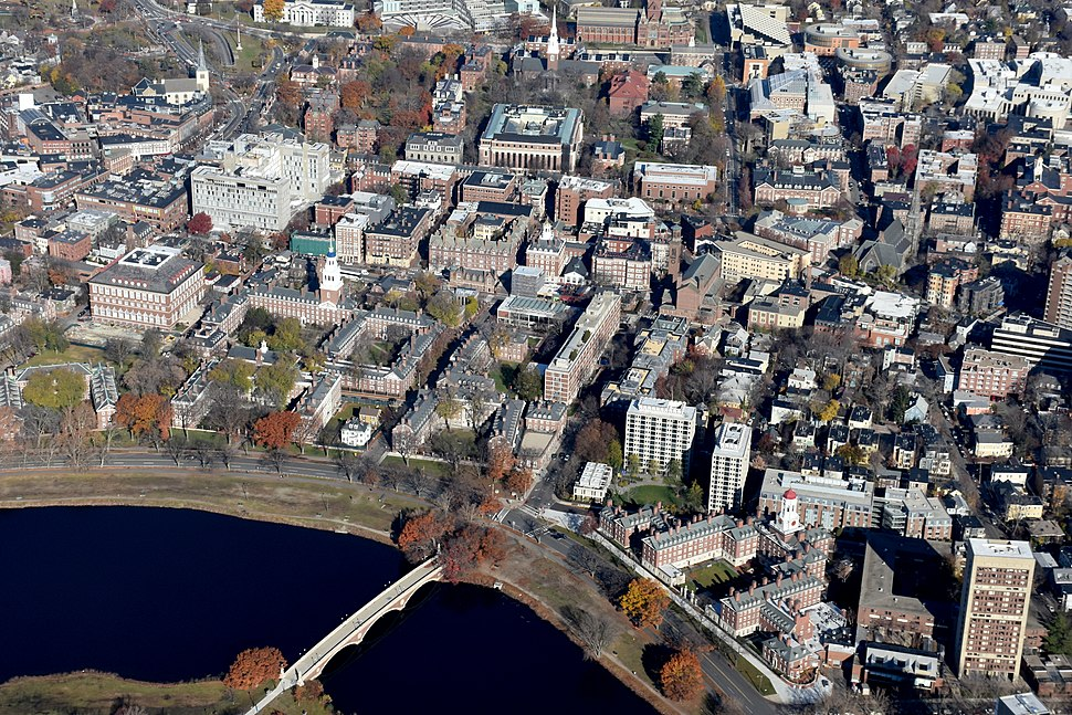 River houses Harvard aerial