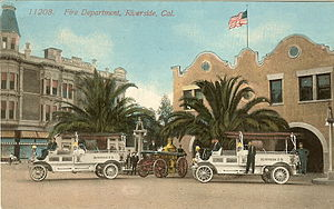 Riverside Fire Department - Image: Riverside Fire Dept 1910