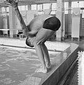 Ronnie Kroon , kampioen 100 meter vrije slag oefent voor de Olympische Spelen, Bestanddeelnr 911-5058.jpg