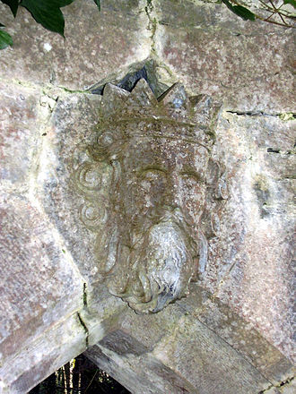 Connacht - Stone carving of Ruaidrí Ua Conchobair from Cong Abbey