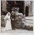 Rosa Llunas i Narcís Masó el dia del seu casament a l'església de Sant Pere de Terrassa. 1933. Fundació Rafael Masó.jpg