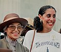 Rosa Parks with Lani Guinier at 1993 march on Washington.jpg